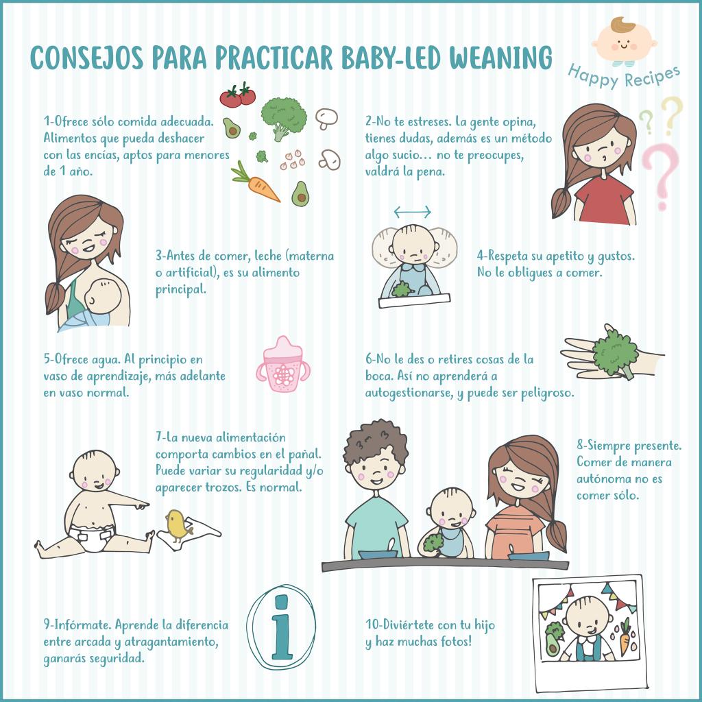 10 consejos para practicar baby-led weaning
